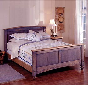 Country-Fresh Solid-Oak Bed Woodworking Plan