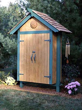Mini Garden Shed Woodworking Plan - Product Code DP-00106