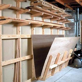 Lumber Storage Rack Woodworking Plan