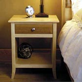 Maple & Cherry Nightstand Woodworking Plan