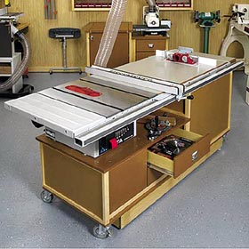 Mobile Sawing & Routing Center Woodworking Plan - Product Code DP-00271