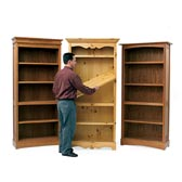 Trio of Bookcases Woodworking Plan