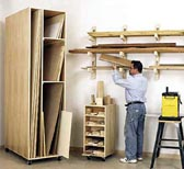 Triple-Threat Storage for Lumber, Scraps, and Sheet Goods Woodworking Plan