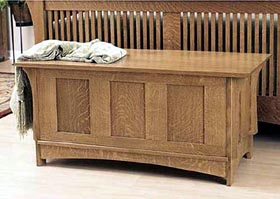 Arts and Crafts Blanket Chest Woodworking Plan - Product Code DP-00446