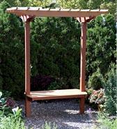 Garden Bench/Trellis Woodworking Plan