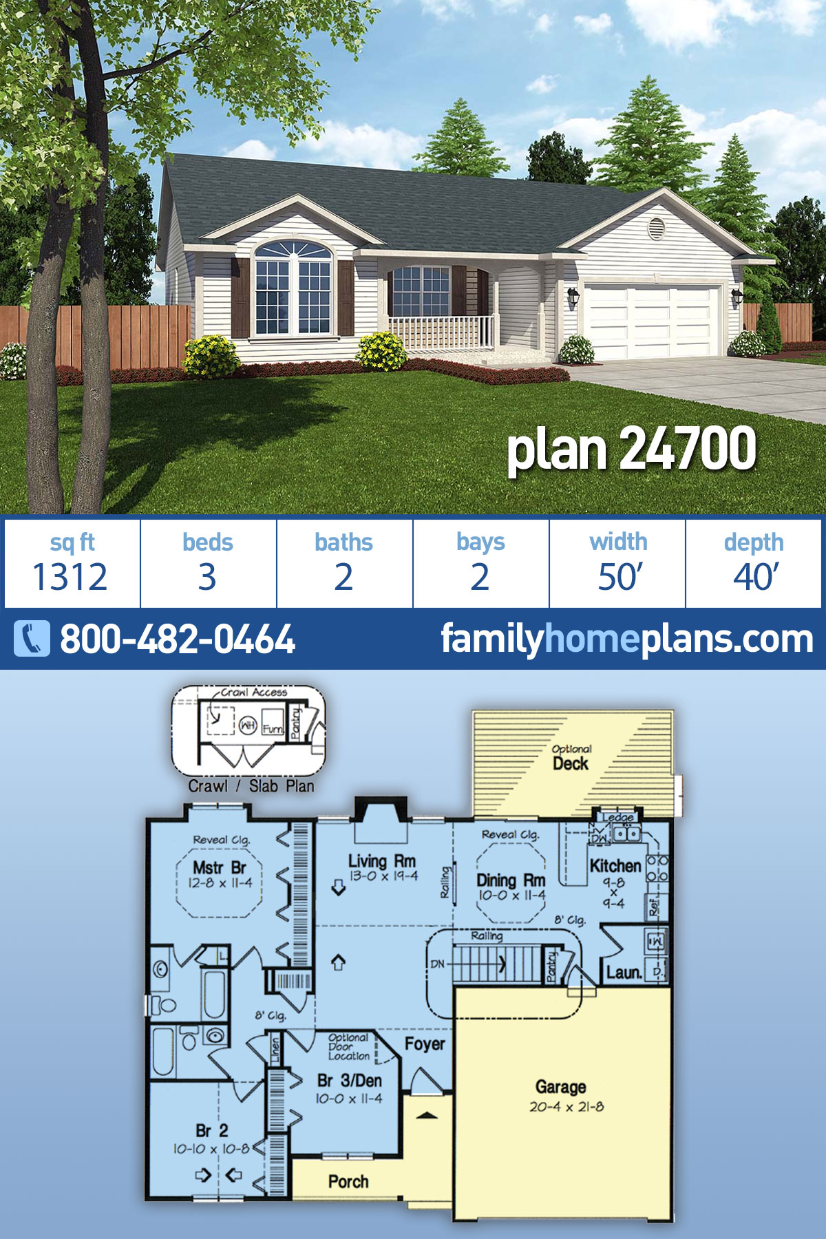 Cottage , Country , Ranch , Southern , Traditional House Plan 24700 with 3 Beds, 2 Baths, 2 Car Garage