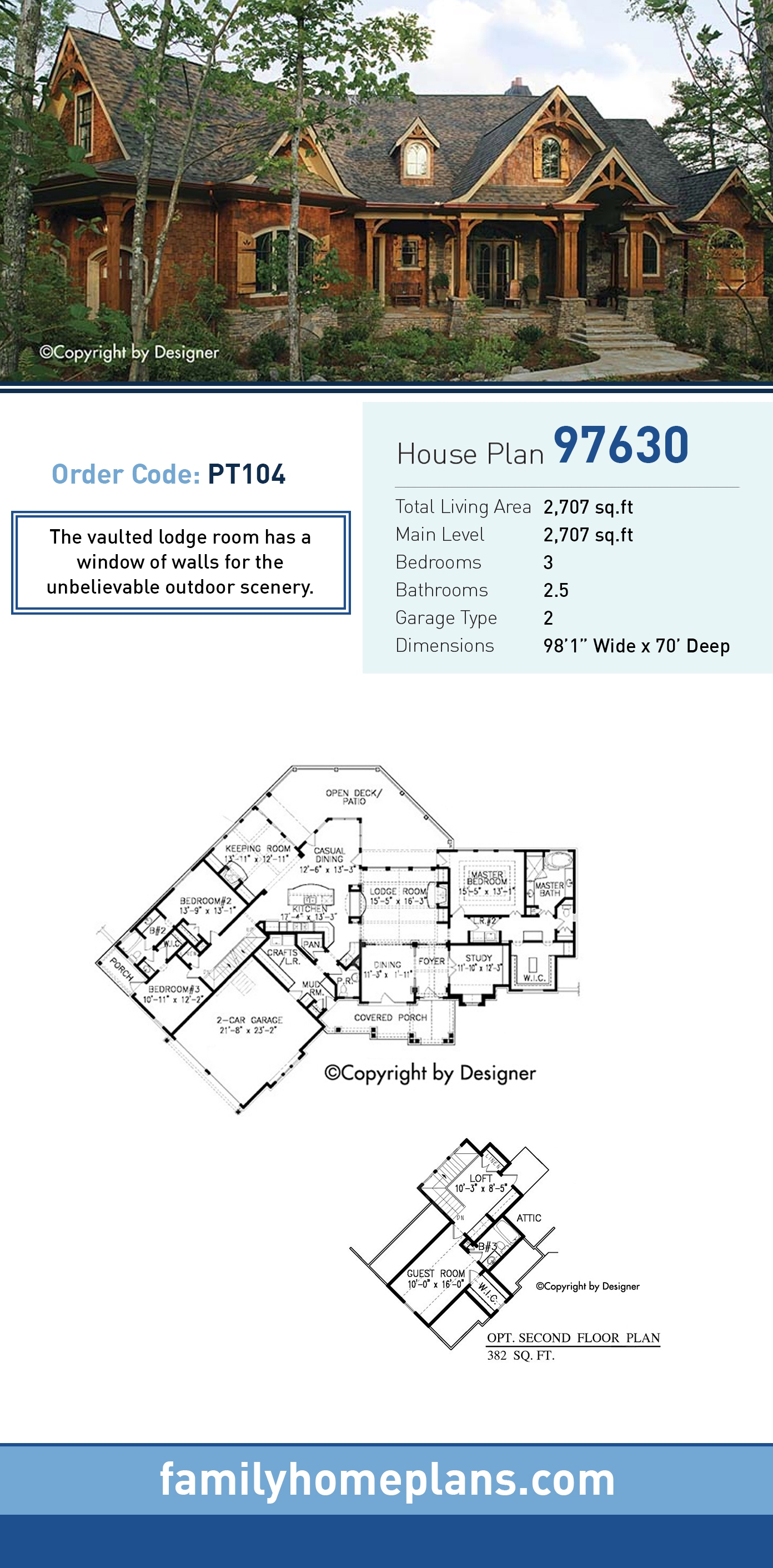 Cottage, Country, Craftsman, Traditional House Plan 97630 with 3 Beds, 3 Baths, 2 Car Garage