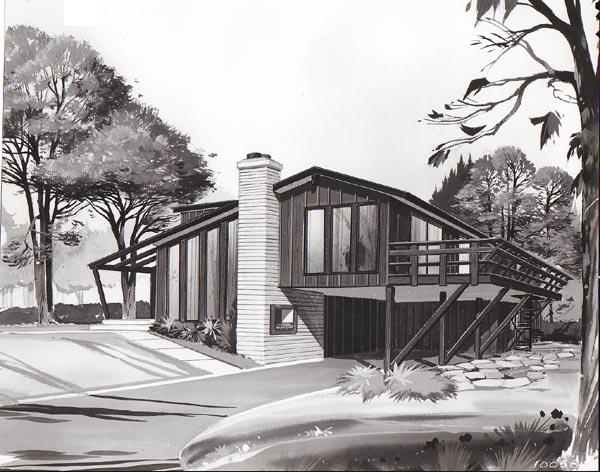 Contemporary Retro House Plan 10058 Elevation