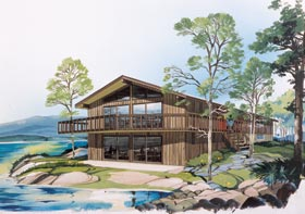 Retro , Contemporary House Plan 10138 with 4 Beds, 3 Baths Elevation