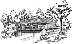 Contemporary Retro House Plan 10234 Elevation
