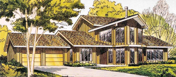 Contemporary Retro House Plan 10394 Elevation