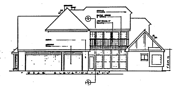 Contemporary Traditional House Plan 10419 Rear Elevation