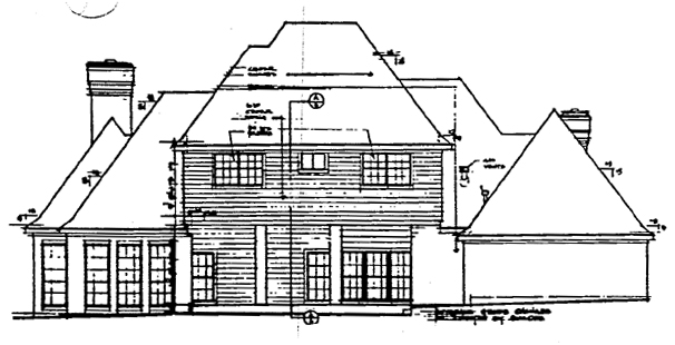 European Traditional House Plan 10436 Rear Elevation