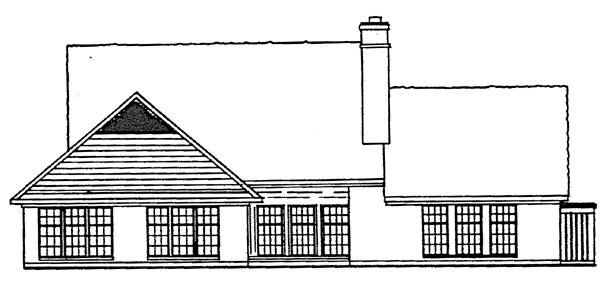Traditional House Plan 10443 Rear Elevation