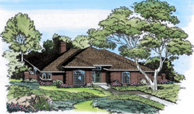 House Plan 10466 | Country European Traditional Style Plan with 2285 Sq Ft, 4 Bedrooms, 3 Bathrooms, 2 Car Garage Elevation