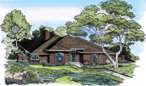 Country European Traditional House Plan 10466 Elevation
