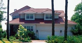 Florida Mediterranean Southwest House Plan 10492 Elevation