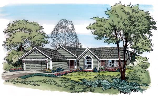 One-Story, Ranch, Traditional House Plan 10503 with 3 Beds, 2 Baths, 2 Car Garage Elevation