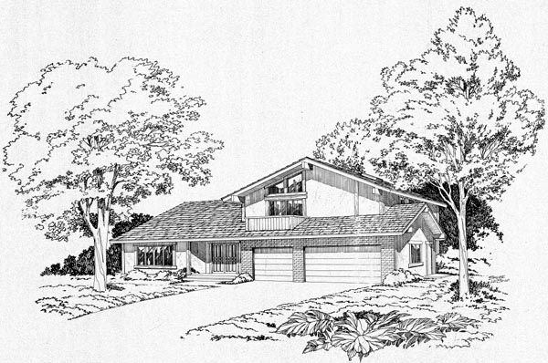 Contemporary Retro House Plan 10510 Elevation