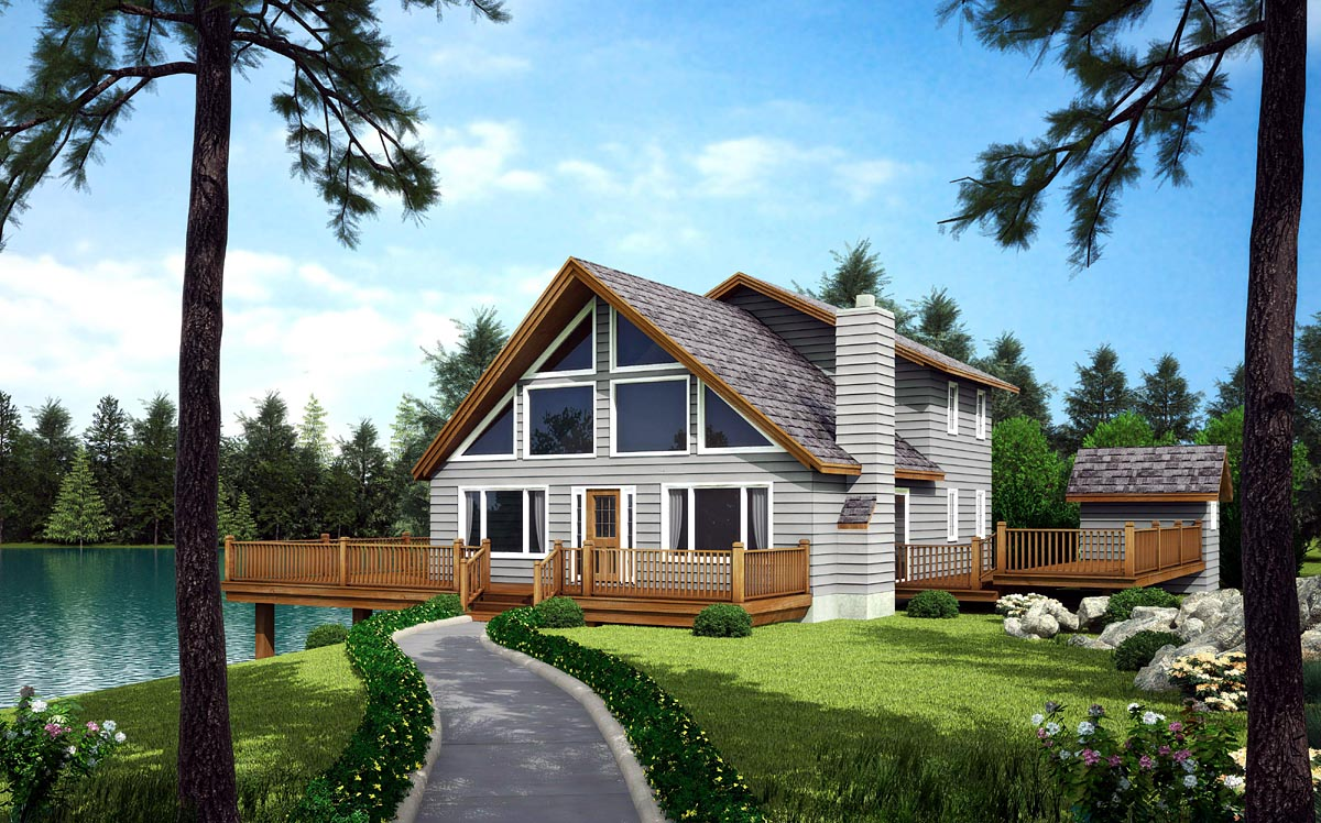 house plan 10515 at familyhomeplans com click here to see an even larger picture a frame cabin contemporary house