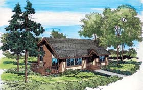 Cottage , Bungalow House Plan 10519 with 3 Beds, 3 Baths Elevation