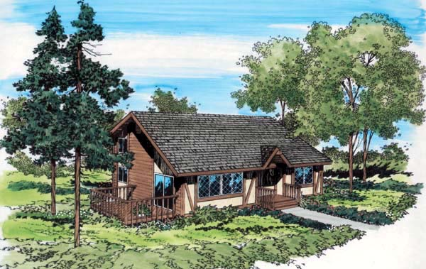 Bungalow Cottage House Plan 10519 Elevation