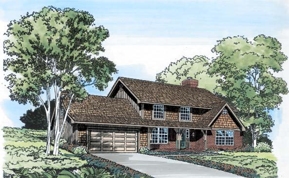 Traditional House Plan 10525 with 3 Beds, 3 Baths, 2 Car Garage Elevation