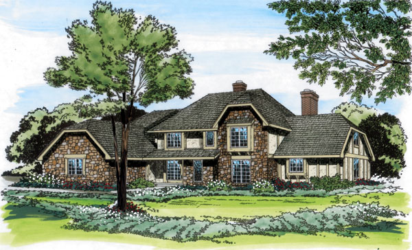 European Tudor House Plan 10530 Elevation