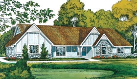 Tudor , Traditional , European House Plan 10550 with 4 Beds, 5 Baths, 2 Car Garage Elevation