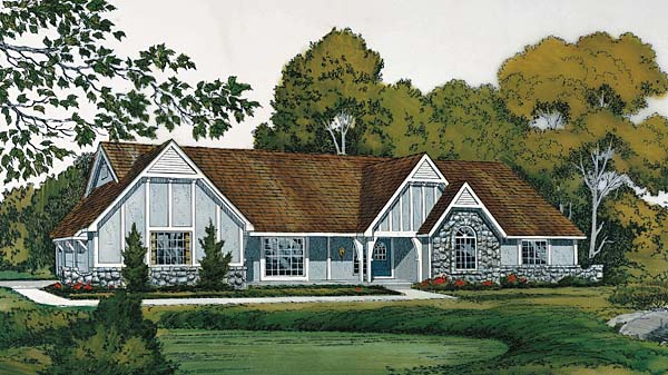 European Traditional Tudor House Plan 10550 Elevation