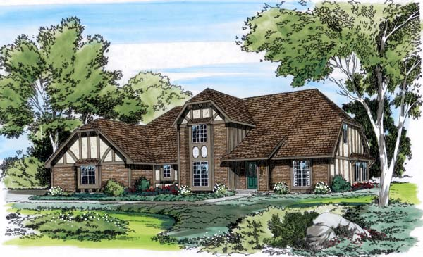 Tudor House Plan 10551 Elevation