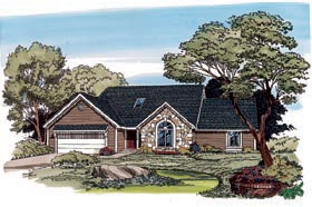 European Traditional House Plan 10554 Elevation