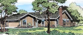 Contemporary , Ranch , Retro House Plan 10594 with 3 Beds, 2 Baths, 2 Car Garage Elevation