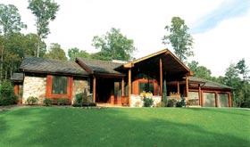 Contemporary Ranch Retro House Plan 10619 Elevation