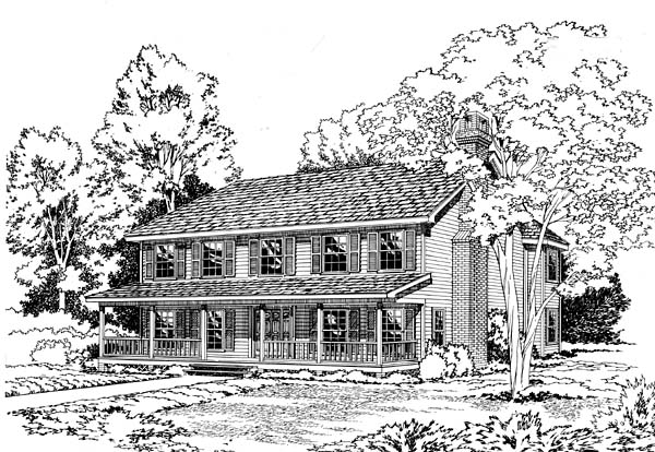 House Plan 10638 | Country Southern Style Plan with 2769 Sq Ft, 4 Bedrooms, 3 Bathrooms, 2 Car Garage Elevation