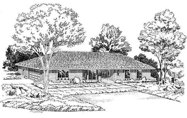 Ranch Retro Traditional House Plan 10656 Elevation