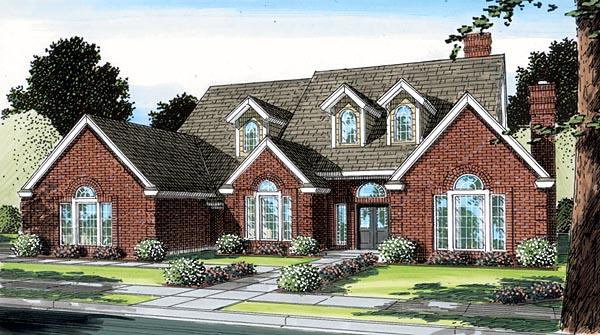 European Traditional House Plan 10670 Elevation