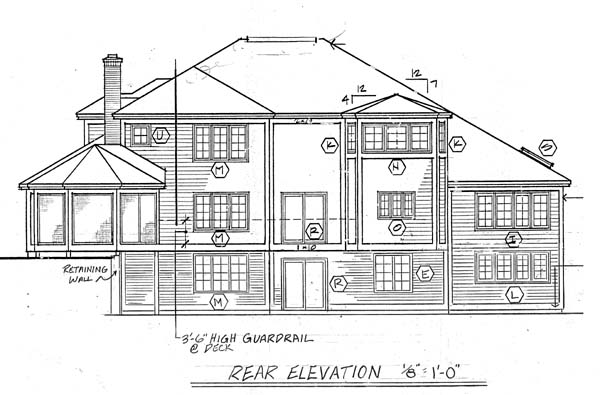 Traditional House Plan 10686 Rear Elevation