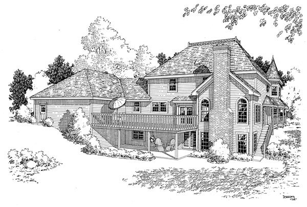 Country Farmhouse Victorian House Plan 10690 Rear Elevation
