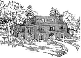 European Southern House Plan 10694 Elevation