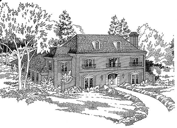 European Southern House Plan 10694 Elevation