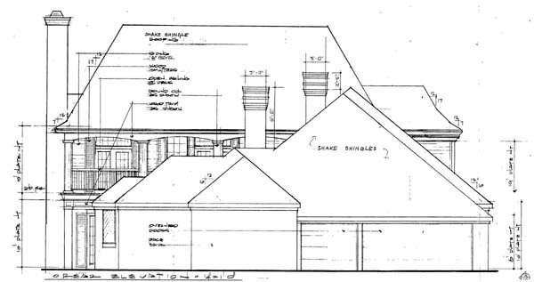 European Southern House Plan 10694 Rear Elevation