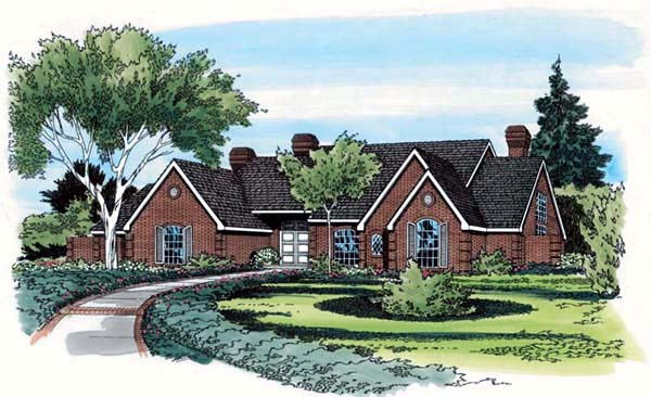 European, Traditional House Plan 10698 with 5 Beds, 5 Baths, 3 Car Garage Elevation