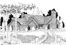 European Traditional House Plan 10713 Elevation