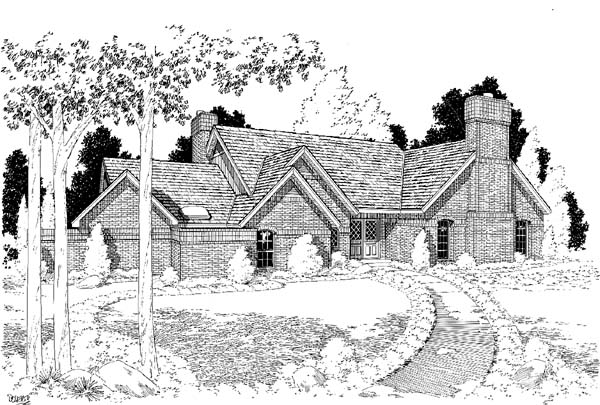 European Traditional House Plan 10713 Elevation
