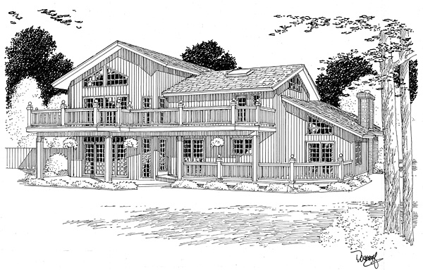 Contemporary Traditional House Plan 10758 Rear Elevation