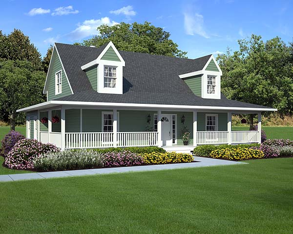 Country Farmhouse Southern Traditional Elevation of Plan 10785