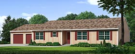 Ranch Traditional House Plan 10796 Elevation