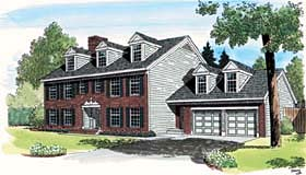 Colonial Traditional House Plan 10801 Elevation