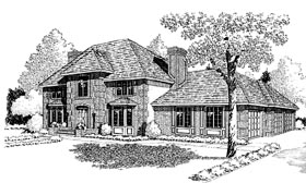 Colonial European Traditional House Plan 10802 Elevation
